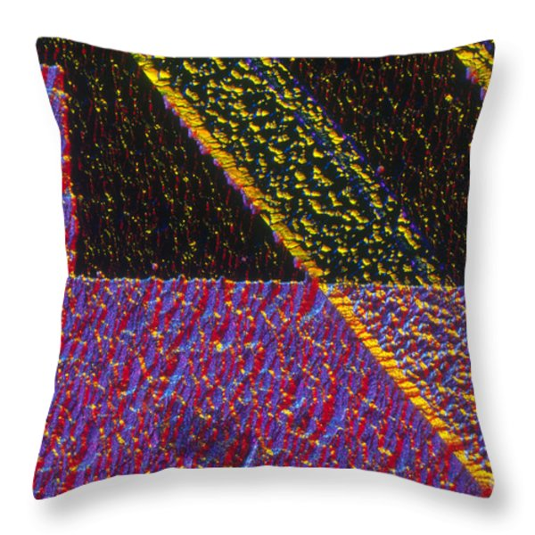 Silicon Solar Cell Throw Pillow by Michael Abbey and Photo Researchers