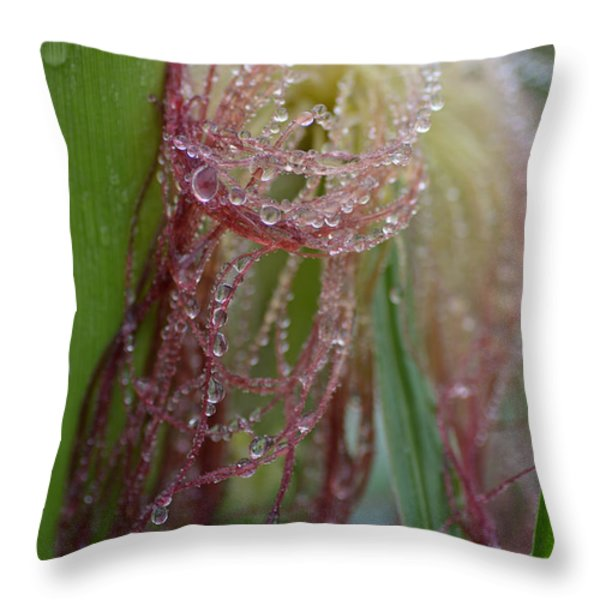 Silk And Pearls Throw Pillow by Susan Capuano