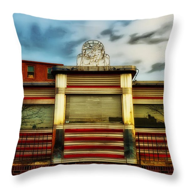 Silk City Lounge Throw Pillow by Bill Cannon