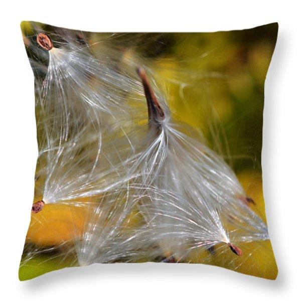 Silky Autumn Throw Pillow by Susan Leggett