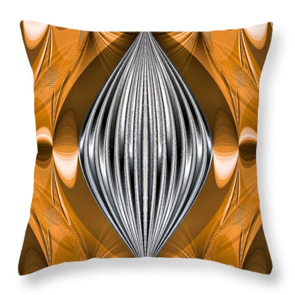 Silver Marquise Engagement Throw Pillow by Kristin Elmquist