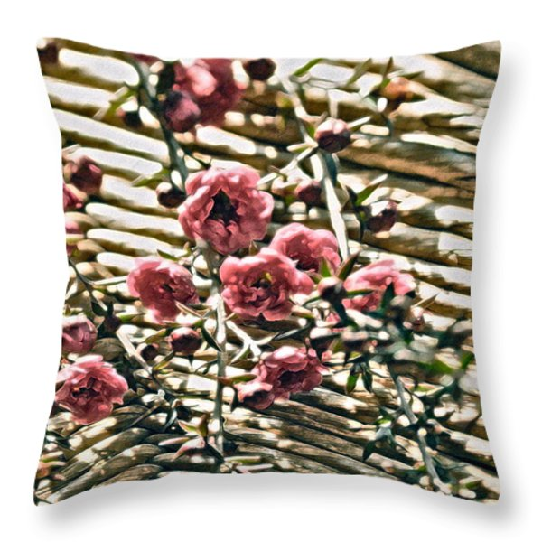 Simple Charm Throw Pillow by Gwyn Newcombe