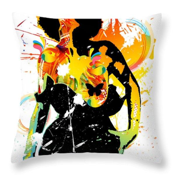 Simplistic Splatter Throw Pillow by Chris Andruskiewicz