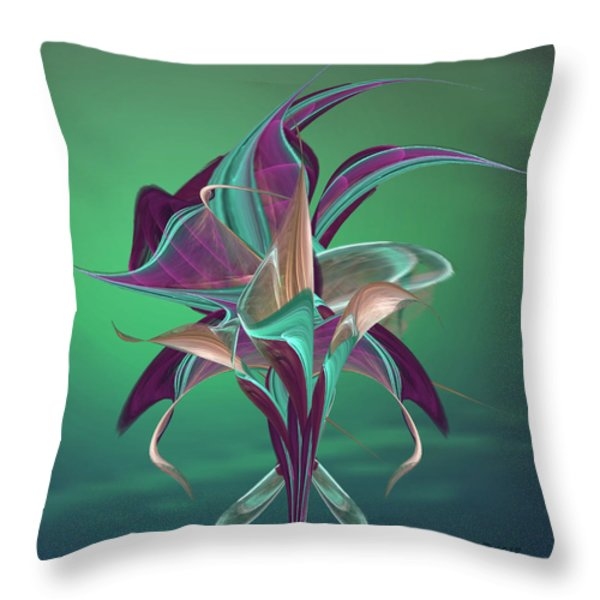 Simply Elegant Throw Pillow by Anne Lacy