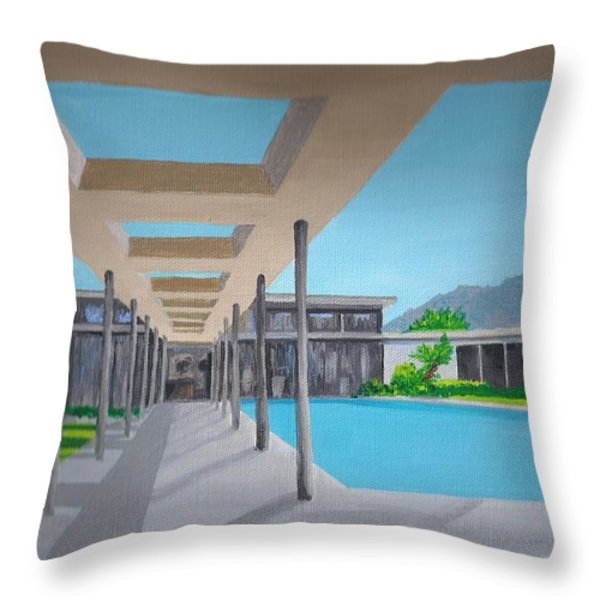Sinatra House One Throw Pillow by Randall Weidner