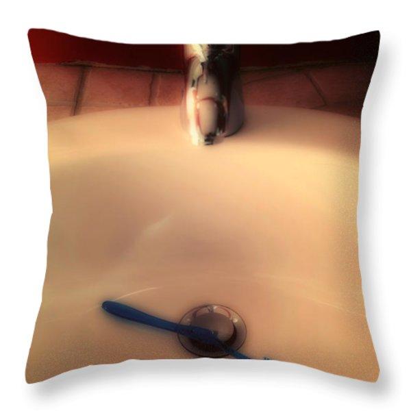 Sink Throw Pillow by Joana Kruse