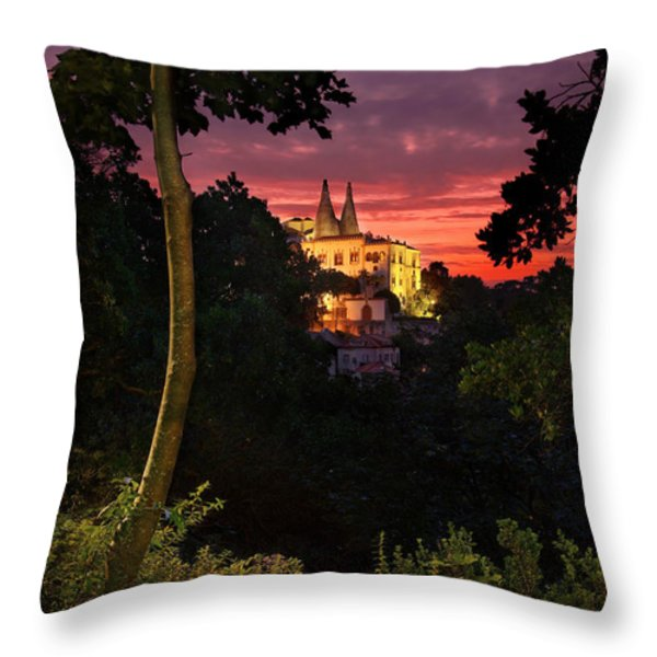 Sintra Palace Throw Pillow by Carlos Caetano