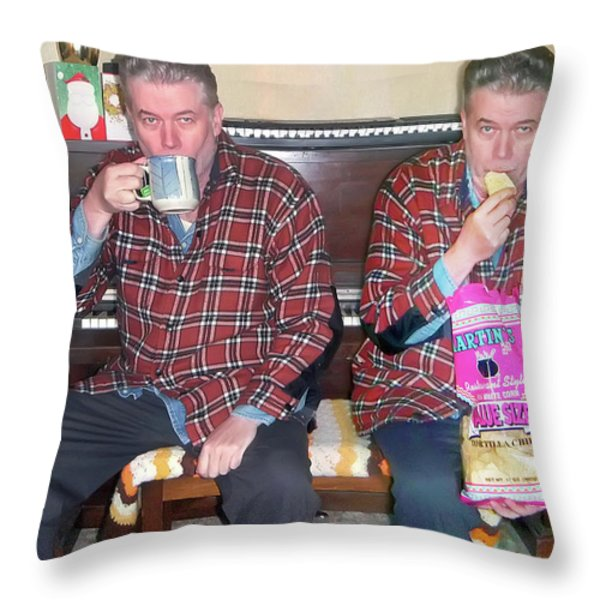 Sip And Dip Throw Pillow by Brian Wallace