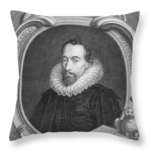 Sir Francis Walsingham Throw Pillow by Granger