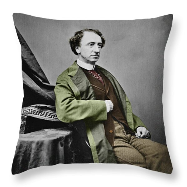 Sir John A. Macdonald Throw Pillow by Andrew Fare