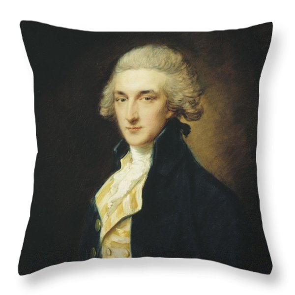 Sir John Edward Swinburne Throw Pillow by Thomas Gainsborough