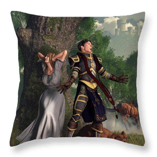 Sir Justinus The Singing Knight Throw Pillow by Daniel Eskridge