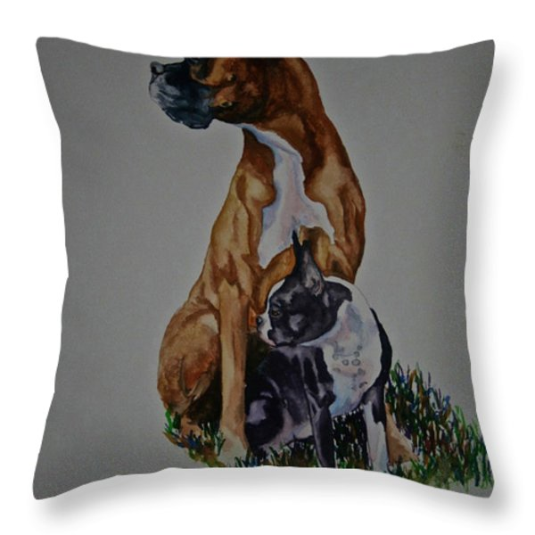 Sister Story Throw Pillow by Susan Herber