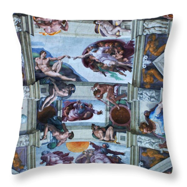 Sistine Chapel Ceiling Throw Pillow by Bob Christopher