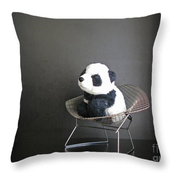 Sitting Meditation. Floyd From Travelling Pandas Series. Throw Pillow by Ausra Paulauskaite
