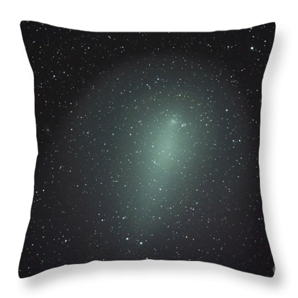 Size Of Comet Holmes In Comparison Throw Pillow by Rolf Geissinger