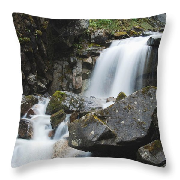 Skagway Waterfall 8619 Throw Pillow by Michael Peychich