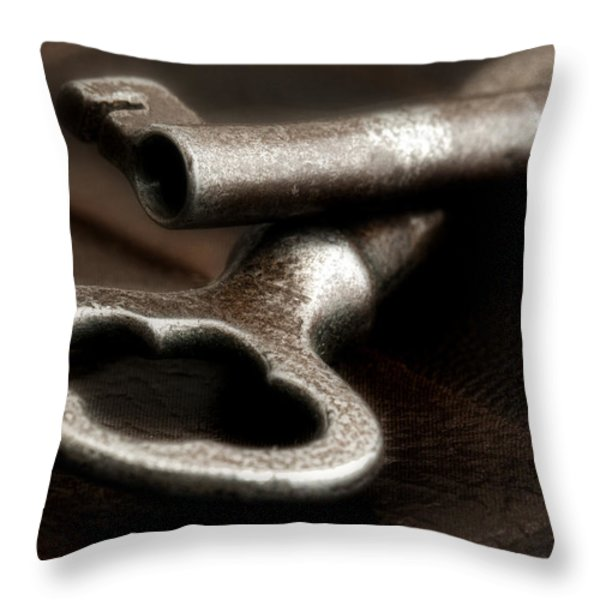 Skeleton Keys Still Life Throw Pillow by Tom Mc Nemar