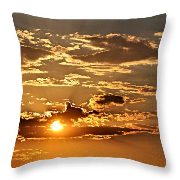 Sky Ablaze 1 Throw Pillow by Marty Koch