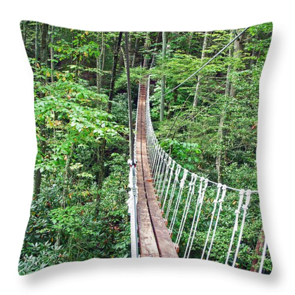 Sky Bridge 2 Throw Pillow by Aimee L Maher Photography and Art