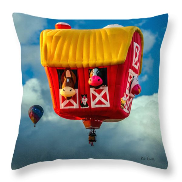 Sky Farming  Throw Pillow by Bob Orsillo