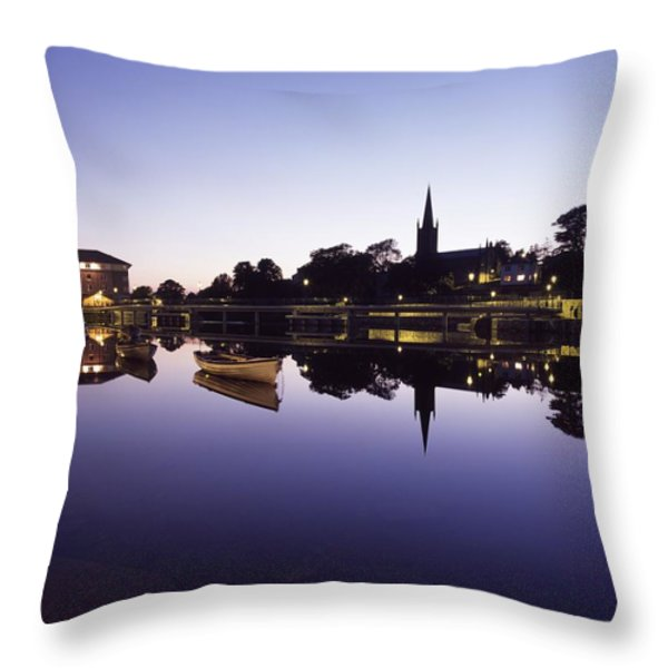 Skyline Over The R Garavogue, Sligo Throw Pillow by The Irish Image Collection