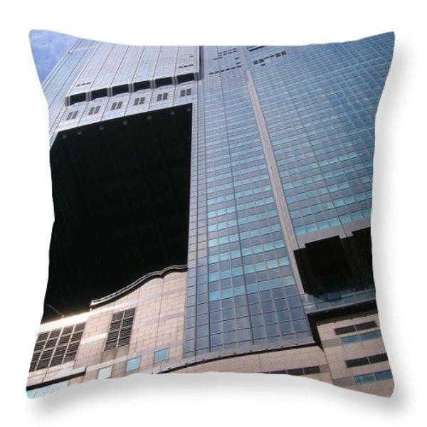 Skyscraper View Throw Pillow by Yali Shi