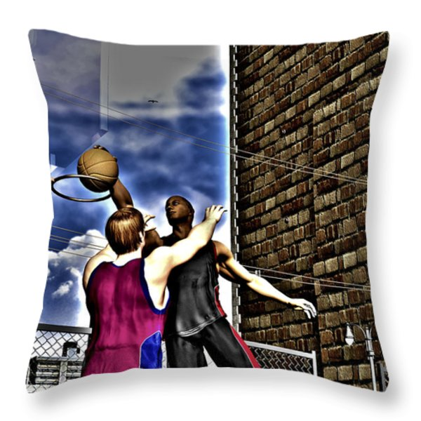 Slammed Throw Pillow by Michael Stowers
