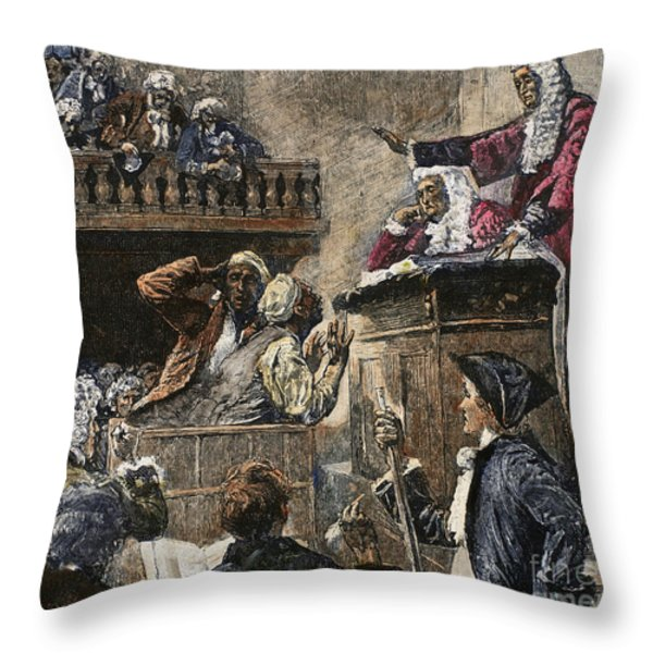 Slaves In Court, 1741 Throw Pillow by Granger
