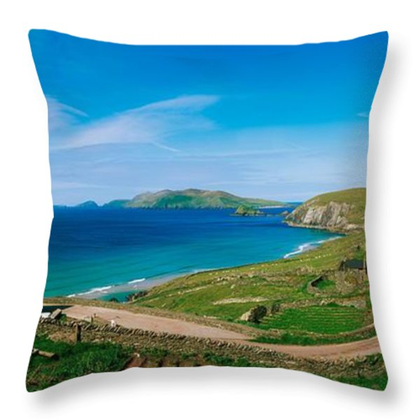 Slea Head & Blasket Islands, Dingle Throw Pillow by The Irish Image Collection