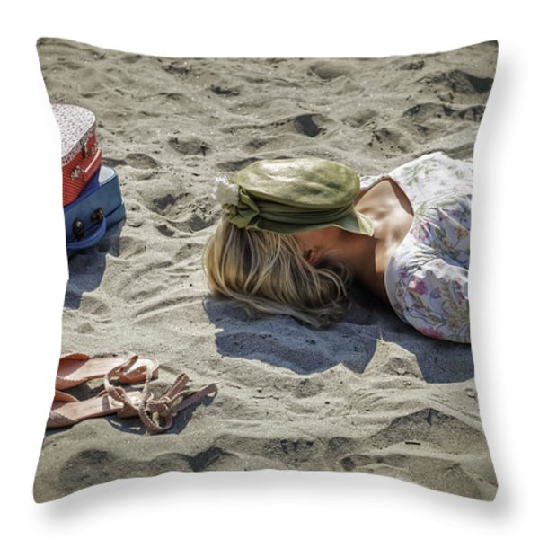 Sleeping Beauty Throw Pillow by Joana Kruse