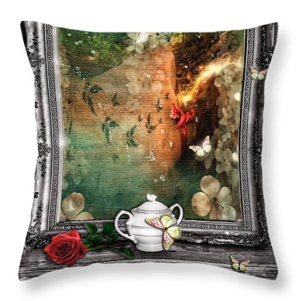 Sleeping Beauty Throw Pillow by Mo T