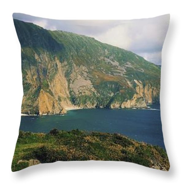 Slieve League, Co Donegal, Ireland Throw Pillow by The Irish Image Collection