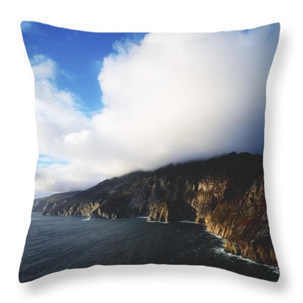 Slieve League, County Donegal, Ireland Throw Pillow by The Irish Image Collection