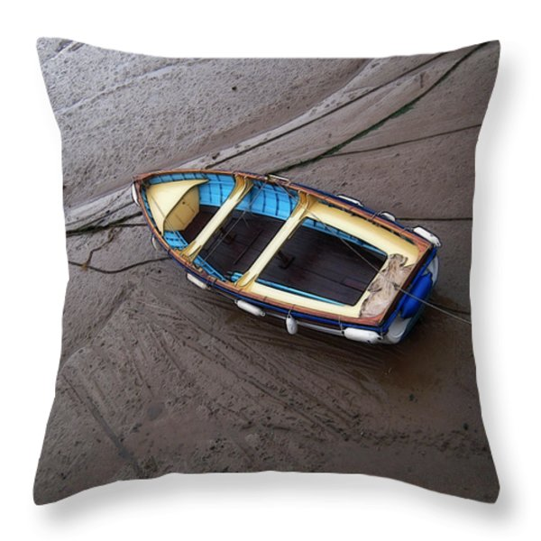 Small Boat Throw Pillow by Svetlana Sewell
