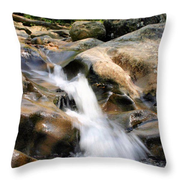 Smoky Mountain Flow Throw Pillow by Kristin Elmquist
