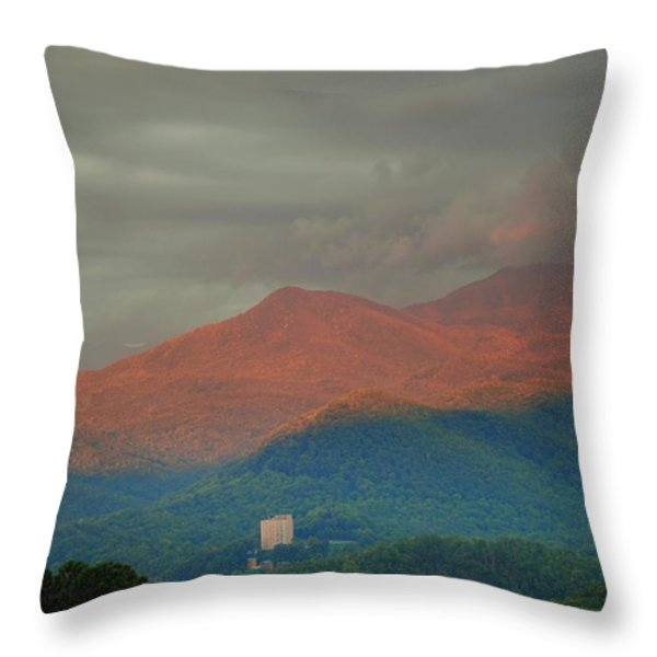 Smoky Mountain Way Throw Pillow by Frozen in Time Fine Art Photography