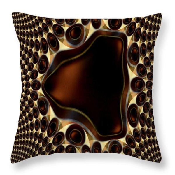 Smoky Quartz Throw Pillow by Maria Urso