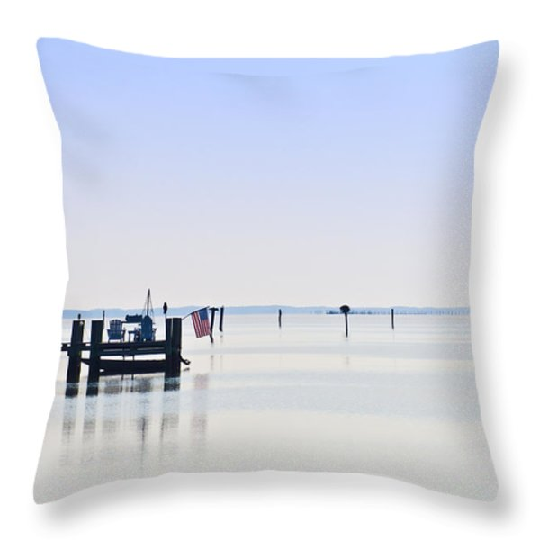 Smooth As Glass Throw Pillow by Bill Cannon