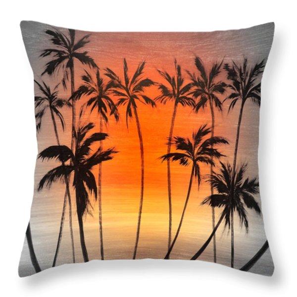 Throw Pillows - Smooth Jazz 22 Throw Pillow by Gina De Gorna