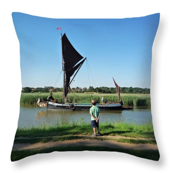 Snape Maltings Throw Pillow by Charles Stuart