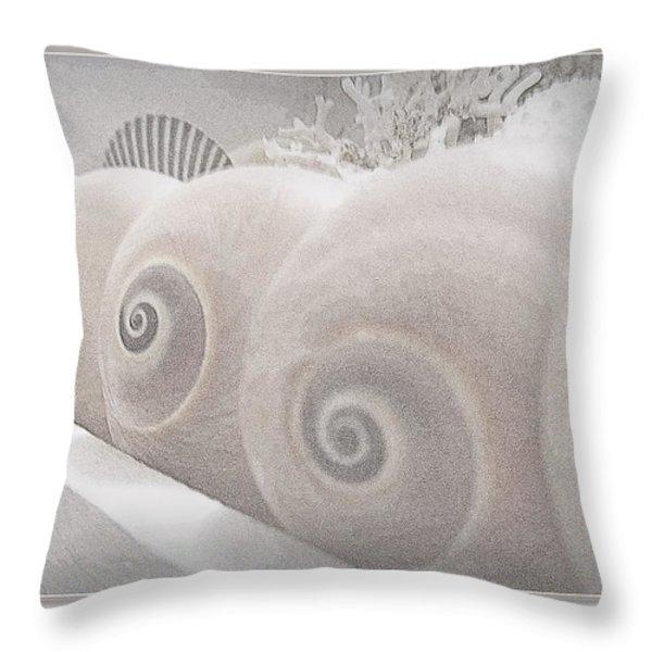 Snow Babies Throw Pillow by Danielle  Parent