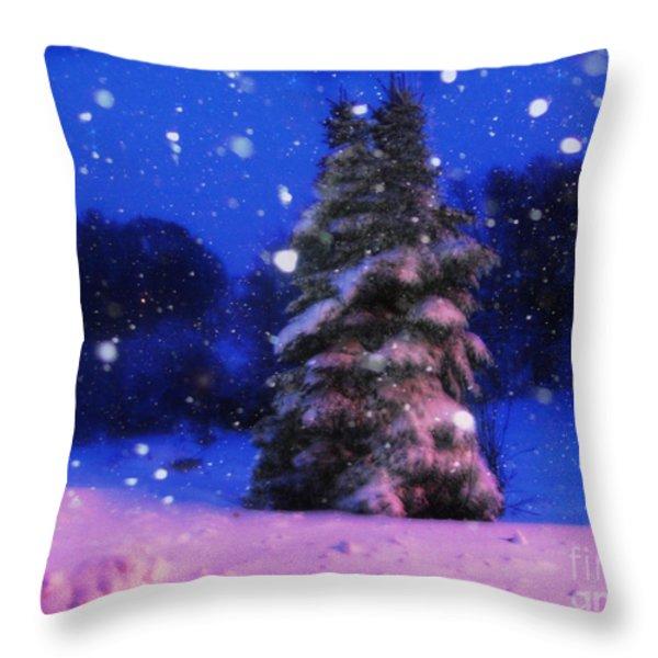Snow Globe  Throw Pillow by Lj Lambert
