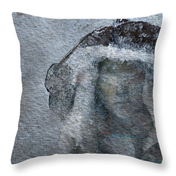 Snow Maiden Throw Pillow by Jean Moore
