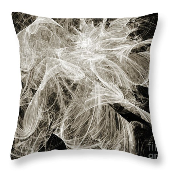 Snow Storm Abstract Throw Pillow by Andee Design