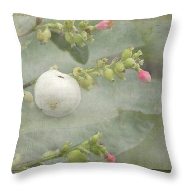 Snowberry Tales Throw Pillow by Steppeland -
