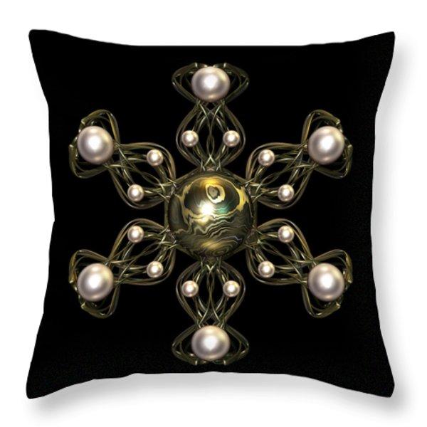 Snowflake Jewel Throw Pillow by Hakon Soreide