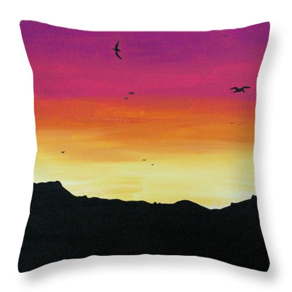 Soaring Sunset Throw Pillow by Jera Sky