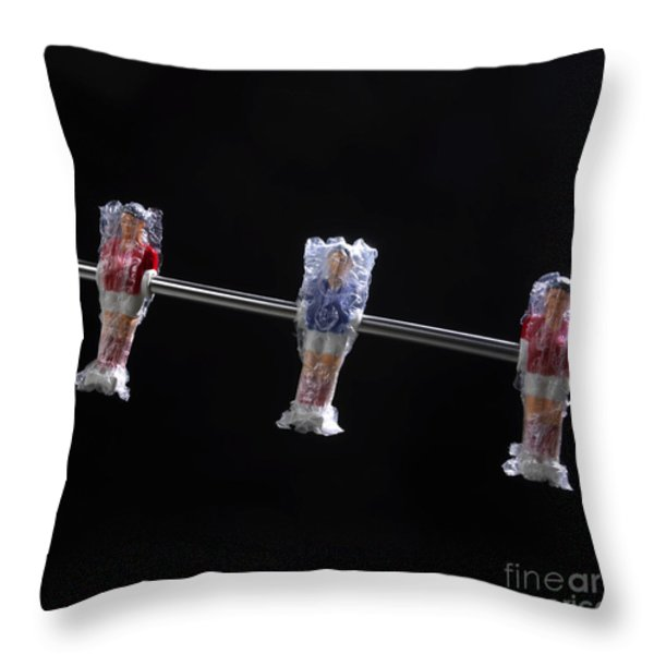 Soccer Throw Pillow by BERNARD JAUBERT