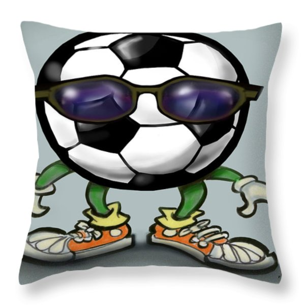 Soccer Cool Throw Pillow by Kevin Middleton